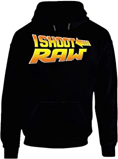 I Shoot Raw Photography Graphic Style Hoodie.