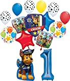 Paw Patrol Party Supplies Chase, Marshal and friends 1st Birthday Balloon Bouquet Decorations