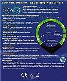 LED Leuchthalsband LEUCHTIE® Plus pink-blau Sonderedition Größe 50 neues Verschlusssystem - 6