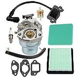 Hilom GCV160 Carburetor with Ignition Coil for Honda GCV160A GCV160LA GCV160LE Replaces HRB216 HRR216 HRS216 HRT216 HRZ216 carb