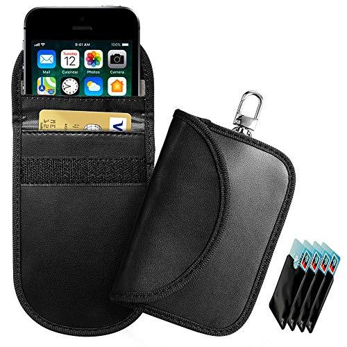 RFID Keyless Go Schutz Autoschlüssel, 2 PCS Diebstahlschutz RFID Schlüsselhülle Kfz Keyless Go Entry Open Tasche, Strahlenschutz Tasche Handy keyless go Schutz Abschirmung RFID KFZ