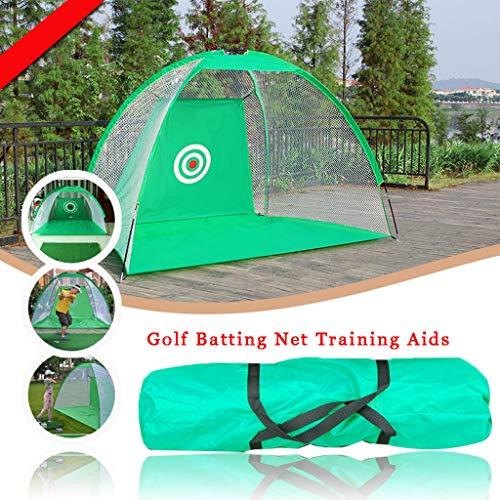 WUTONG - Red de golf para patio trasero, plegable, jaula de bateo de golf para interior y exterior, entrenamiento de golf en interiores y exteriores, Tejido Oxford, Verde, 2 m