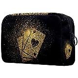 Bolsa para brochas de maquillaje personalizable, bolsa de aseo portátil para mujer, bolso cosmético, organizador de viaje, purpurina dorada