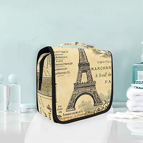 FAJRO Paris Tour Eiffel Grande trousse de toilette de voyage polyvalente à suspendre