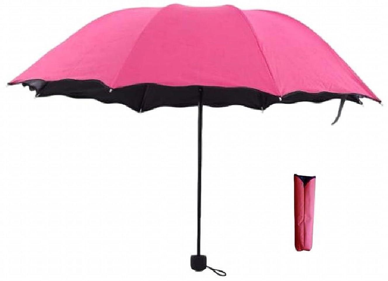 (TERA Dream) 3段折 折りたたみ 傘 晴雨兼用 雨で模様が浮き出る 遮光 遮UV コンパクト 携帯 撥水 UV対策 収納ケース付 レディース