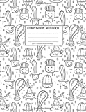 Composition Notebook:Size 8.5 x 11, College Ruled, 100 pages Notebooks with sophisticated and precious cover the main theme is the line art cacti and succulent: To Do Lists for You to Organize