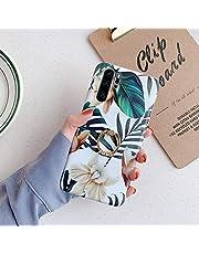 Surakey Compatibel voor Huawei P30 Pro Case, Siliconen Bloem Stijlvolle Case Bloemen Case met Ring Houder Ultra Dunne Zachte Gel Rubber Bumper Shockproof Beschermende Girly Telefoonhoes, Witte Bloem