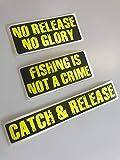 Schönheits Shop Fishing Aufkleber Set Autoaufkleber Neon Gelb Uv Sticker Decal Angeln Tacklebox...