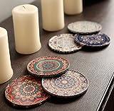 BOHORIA Premium Design Untersetzer 6er Set Dekorative Untersetzer fur Glas, Tassen, Vasen, Kerzen auf ihrem Holz-, Glas- oder Stein- Esstisch Boho Edition,Marrakech - 2