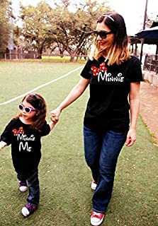 2 Shirts- disney fan Mommy and Me Minnie Shirts, family matching, Minnie Me, matching mother daughter outfit mickey mouse mama