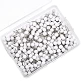 500 Pack Map Push Pins Map Tacks Small Size (White, 1/8 Inch)