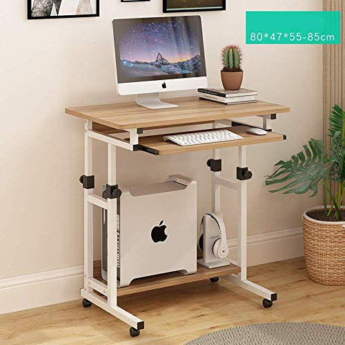 Home Beistelltische Mobiler Tisch Höhenverstellbarer Steharbeitsplatz mit Stauraum Computerarbeitsplatz Rollender Präsentationswagen, BOSS LV, b