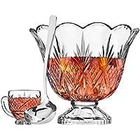 10-Pieces Godinger Drinkware, Dublin Punch Bowl Set