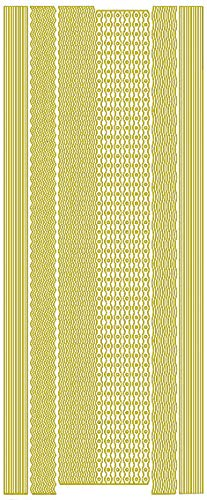 Reliefsticker 'Bordürenmix', 10 x 23 cm Gold