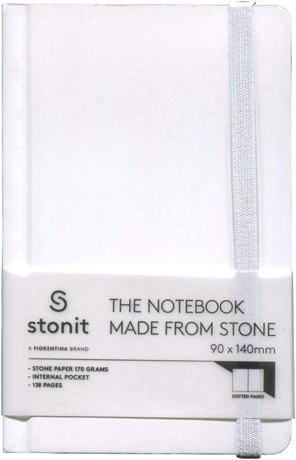 Stonit Hard Cover Dot Notebook - White 3.5x5.5 (ST001-W)