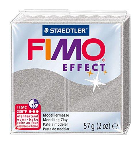 Staedtler - Fimo Effect - Pain Pâte à Modeler 57 g Effet Nacré Argenté Clair
