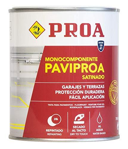 Pintura monocomponente para suelos y garajes al agua. Exterior-interior. PAVIPROA.