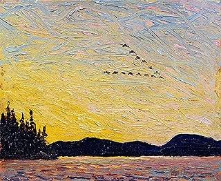 Tom Thomson (Round Lake, Mud Bay, 1915) Canvas Art Print Reproduction (8.3x10.5 in) (21.2x26.6 cm)