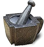 AWJ Forniture da Cucina Mortaio e pestello Macina spezie Pietra Blu Naturale Pietra Pietra Fatta a Mano Schiaccia Aglio Pentola per Aglio Dispositivo di Medicina Mortaio