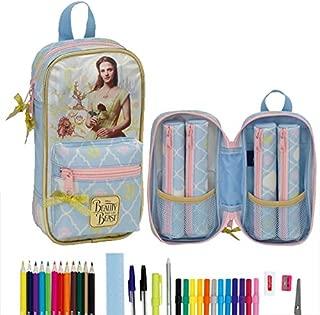 SAFTA 811708042 La Bella y la Bestia Color Azul Claro Neceser de 22 cm