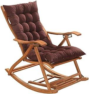 WHZG Cojin Silla Cojín de silla de patio para silla mecedora, asiento alto respaldo Caja de la tumbona Cojín reclinable almohadillas mecedora Cojines de silla interior al aire libre Cojin Silla Comedo