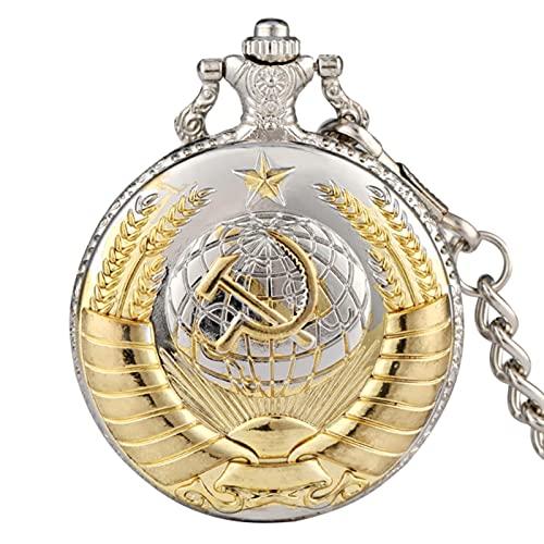 SSXR Reloj de Bolsillo de Cuarzo clásico Reloj de Horas con números árabes Unisex Relojes con Colgante Steampunk con Reloj de Cadena de 30 CM Modelo 6, a