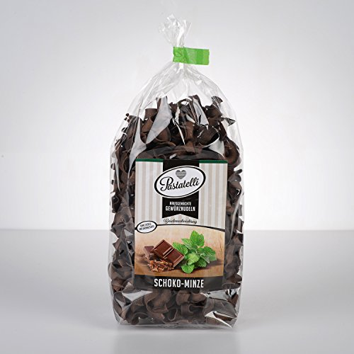 Pastatelli Pfefferminz Schokonudeln - Minz Schokolade Nudeln - Schoko Minze Nudel - Pfefferminz Schokolade Pasta Vegan