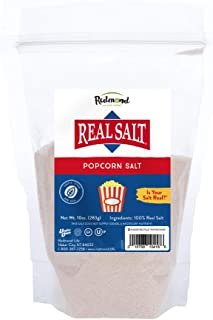 Redmond Real Sea Salt - Natural Unrefined Organic Popcorn Salt, 10 Ounce Pouch