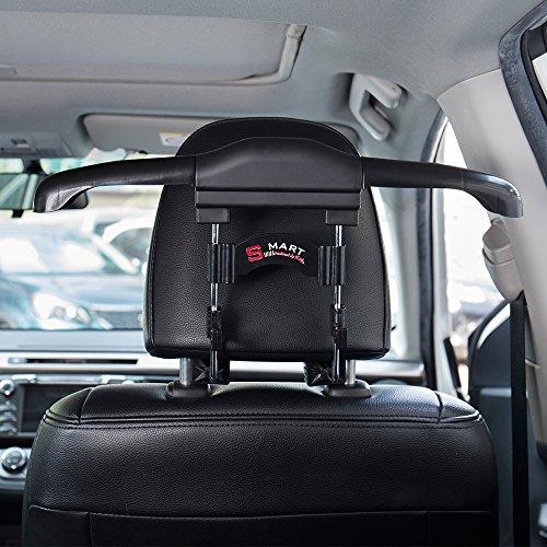 FMS auto kleerhangers en 2 autostoelen achterhaken autokleerhangers voor hoofdsteun voor kleerhangers kleding kleding jas shirts kleerhangers zwart zwart
