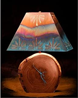 mesquite table lamp with copper shade