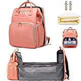 Diaper Bag Backpack with Folding Crib, Portable Sleeping Mummy Nappy Baby Bag Travel Bassinet