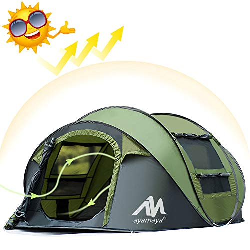 AYAMAYA Tents 3-4 Person Pop Up Tent