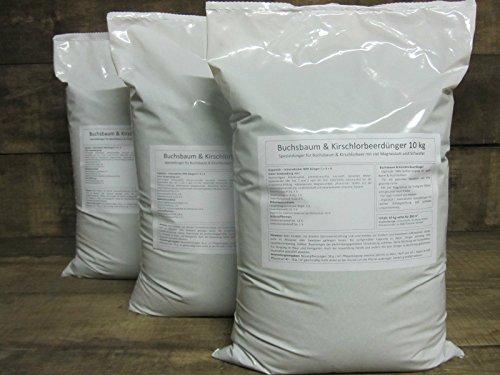HaGaFe Buchsbaum & Kirschlorbeerdünger Organisch Mineralischer Spezialdünger, 30kg (3x10kg)