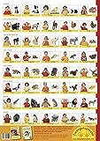 Babyzeichen-Plakat: Tierzeichen: 40 Gebärden für Tiere