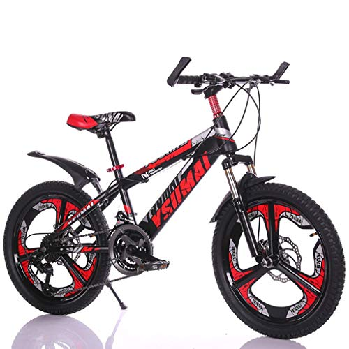 Boy Bicycle Red Bicycle Children's Summer Riding Scooter Suitable for Children's Bicycles 6-15 Year Old Student 18/20/mountain Bike (Color : Red, Size : 20inch)