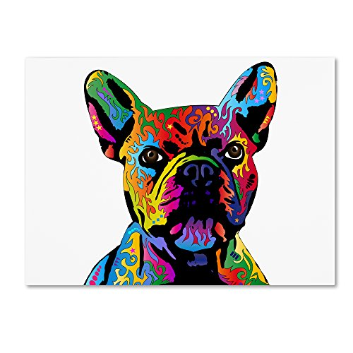 French Bulldog by Michael Tompsett, 18x24-Inch Canvas Wall Art