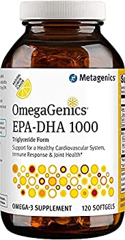 Metagenics OmegaGenics® EPA-DHA 1000 – Omega-3 Oil – Daily Supplement to Support Cardiovascular Musculoskeletal & Immune System Health 120 count
