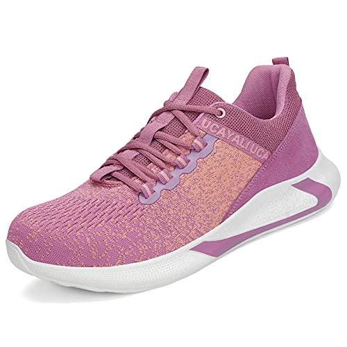 Ucayali Calzado de Seguridad Mujer Bota Baja Ligera Zapatos de Trabajo Antideslizante Botines de protección Zapato Rosa 40