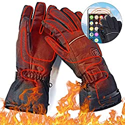Heated Glove, Electric Heating Gloves, Man Woman Electric Thermo Gloves Winter Gloves with Free Climbing Warm Gloves Ski Gloves Ladies Warm Winter Waterproof (4.5V) (4.5V)