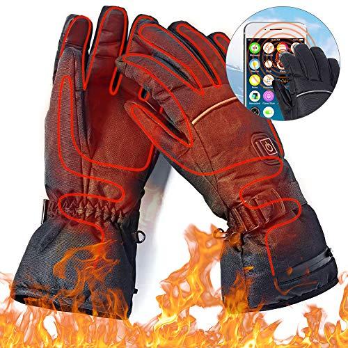 Beheizte Handschuh,Elektrische Heizung Handschuhe, Mann Frau elektrische Thermo GlovesWinterhandschuhe mitFreien Kletternwarme Handschuhe skihandschuhedamen warmherren Winter wasserdicht (4.5V) (4.5V)