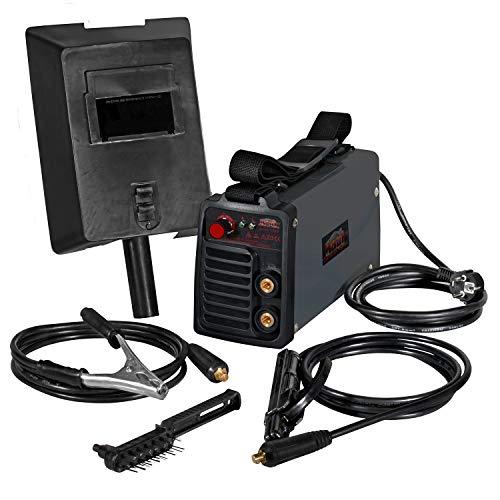 Mauk Mini Schweißgerät Inverter Schweißgerät Elektroden E-Hand MMA (20-80 A, Elektrode 1,6 mm - 2,5 mm, inkl. Zubehör)