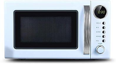 JINRU Placa Giratoria De Horno De Microondas con Encimera De Estilo Retro, Modo Ecológico Y Sonido Activado/Desactivado,Azul