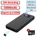 Spy Camera, Power Bank with Hidden Cameras 10000mAh Wearable Covert Security Nanny Cam
