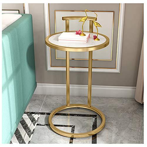 Mesa auxiliar de mármol para sala de estar, mesa de café, pequeña mesa de café, estantes de cocina, estantes de armario, mesita de noche, cocina Localgold3