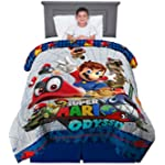 "Franco Kids Bedding Soft Reversible Comforter, Twin/Full Size 72"" x 86"", Super Mario"
