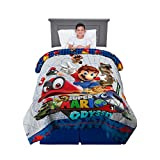 Franco Kids Bedding Soft Reversible Comforter, Twin/Full Size 72' x 86', Super Mario