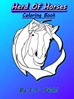 Herd of Horses Coloring Book