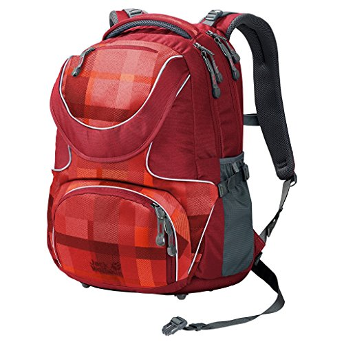 Jack Wolfskin Kids Schulrucksack Ramson 26 Pack 7941 indian red woven check