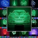 3D Lampe 3D Leuchte 3D LED Stimmungslicht. 7 Farben - Auswahl aus 81 verschiedenen Motiven, hier...