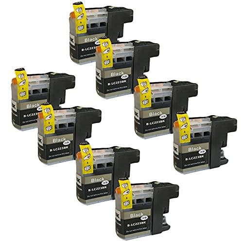 SXCD LC223 Cartuchos de Tinta para Brother, Reemplazo para Brother MFC-J4420DW J4620DW J4625DW J5320DW J5620DW DCP-J4120DW Impresora de Alta Rendimiento Compatible 4 Colo Black x 8